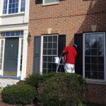 residential painting exterior shutters weatherproofing during work stb