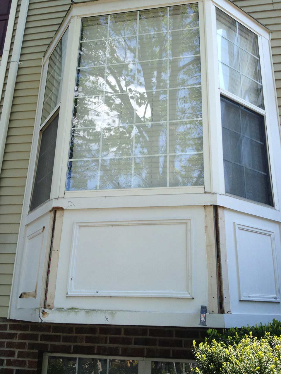 odenton md residential rotting wood window panel door