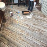 Germantown,MD residential wood back deck before final sealant coats applied