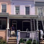 residential exterior painting rowhouse before image stb