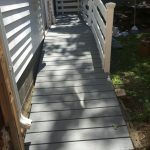 Washington, DC residential wood deck with solid stain applied