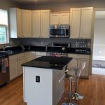 residential home painting kitchen cabinets after image