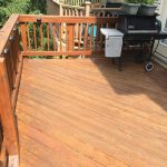 Germantown,MD residential wood back deck after final sealant coats applied
